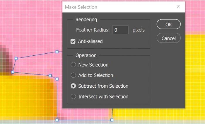 Pen Tool selection dialogue box