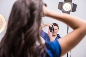 professional photographer taking a portrait