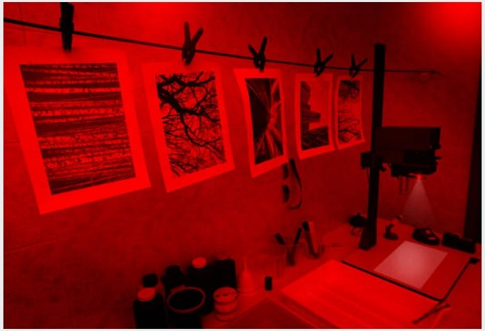 red light developing wet plate photography