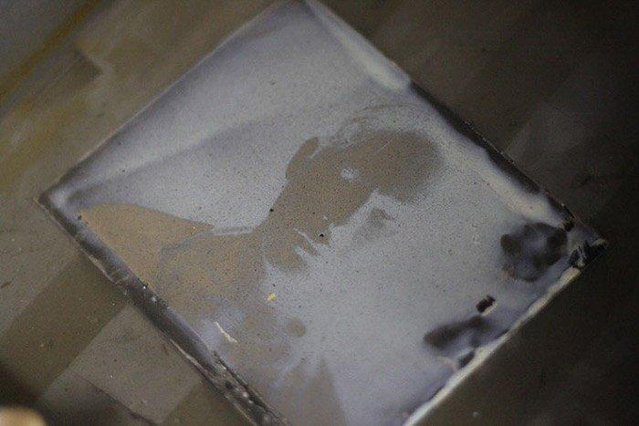 wet plate photo in developer