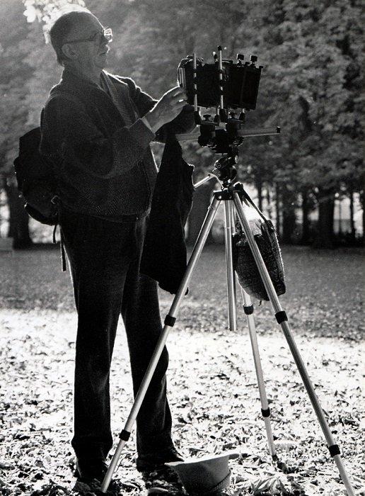 photographer using a wet plate camera