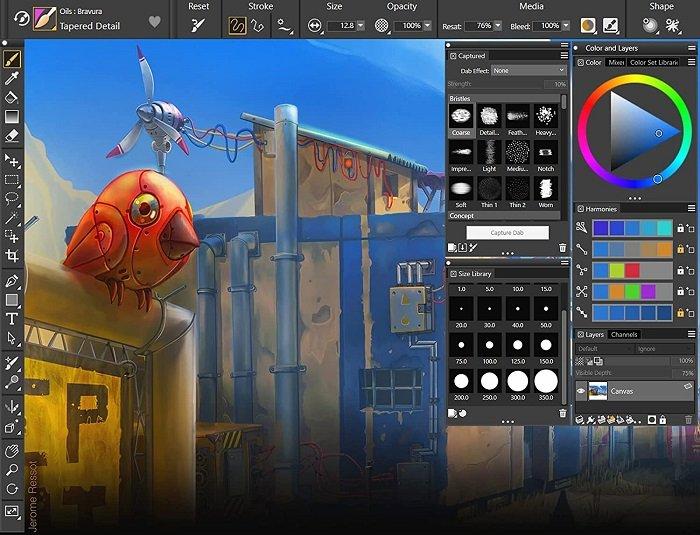 Corel Painter screenshot