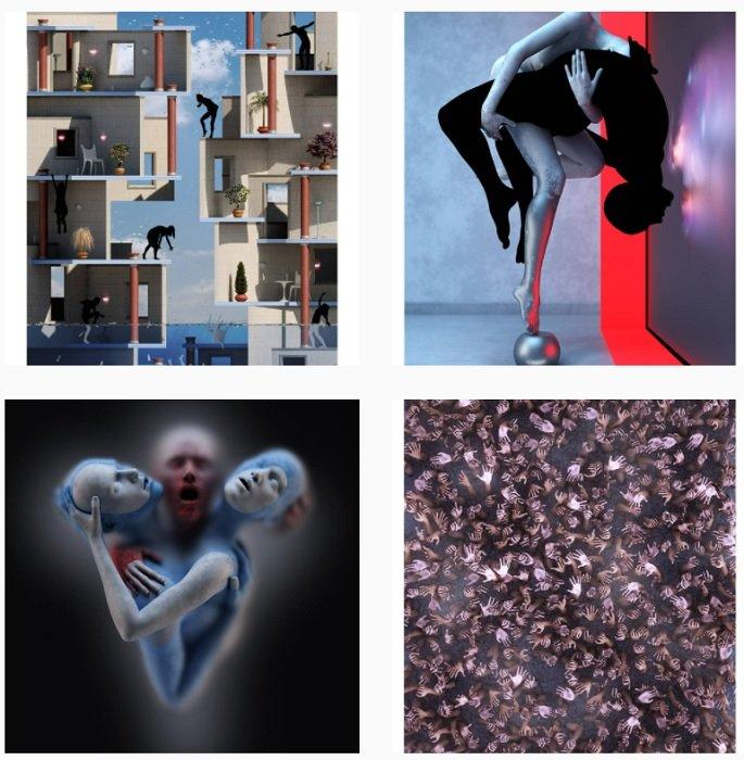 Adam Martinakis Instagram Collection of fantasy photographs