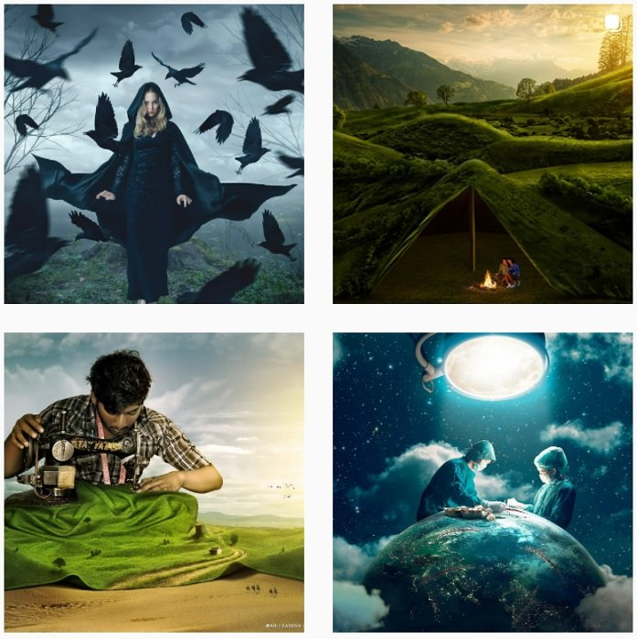 Anil Saxena Instagram Collection of fantasy photographs