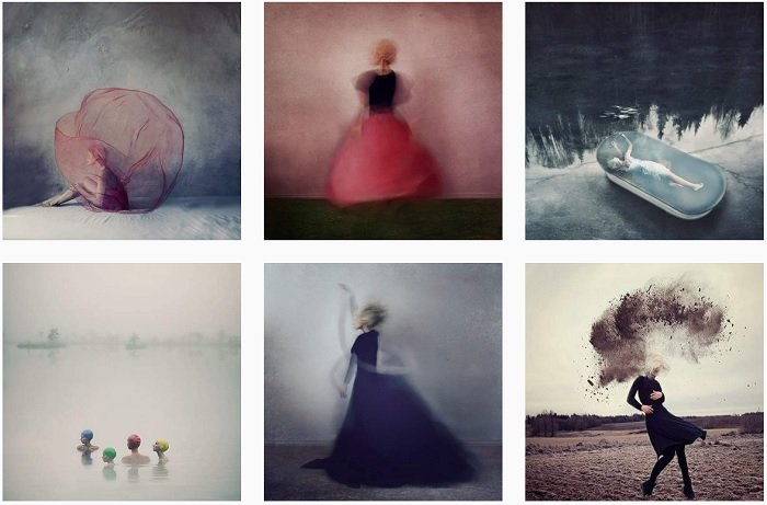 Kylli Sparre Instagram Collection of fantasy photographs