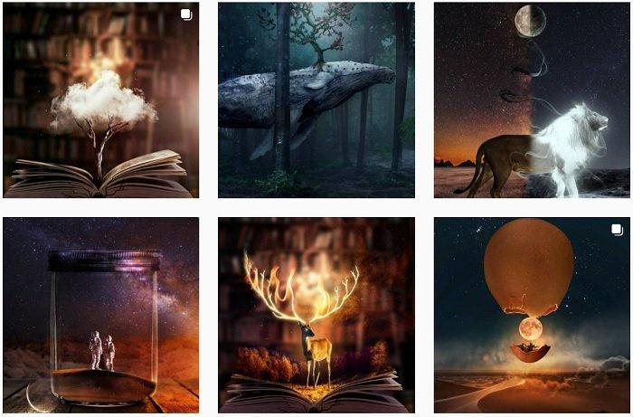 Natacha Einat instagram Collection of fantasy photographs