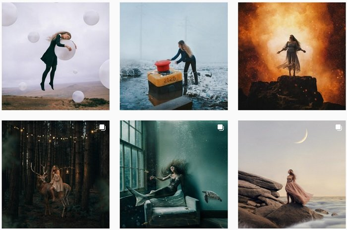 Rosie Hardy Instagram Collection of fantasy photographs