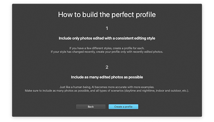 ImagenAI How to build the perfect profile