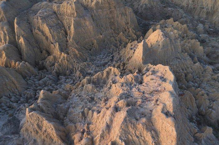 sharp landscape photography: a barren and textured mountain range