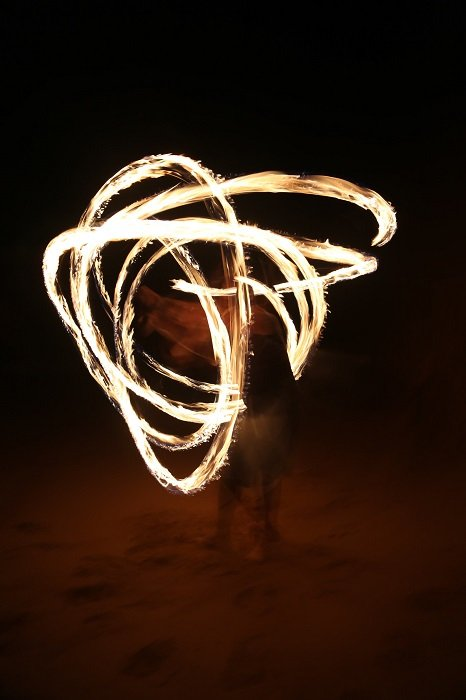light painting with a natural light source to give a sense of raw energy to the image