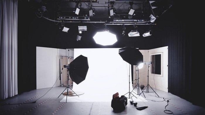 studio lighting set-up