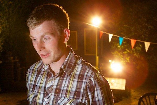 photo of a man taken in low light