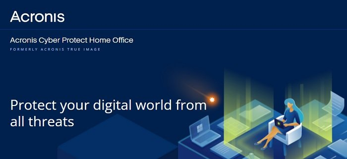 the Acronis photo recovery software's website home page
