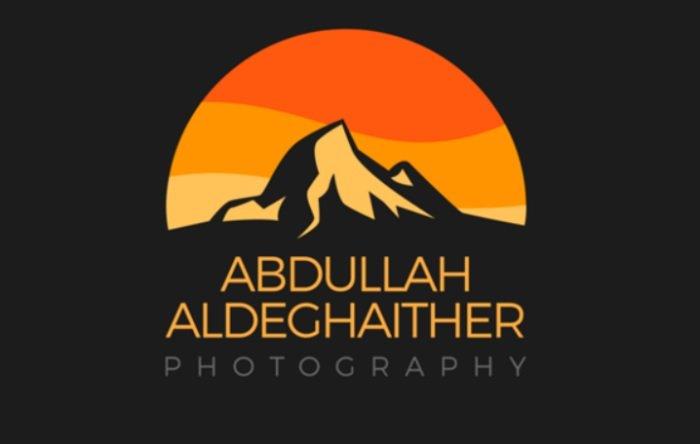 Abdullah Aldeghaither logo using a mountain landscape to reflect his expertise