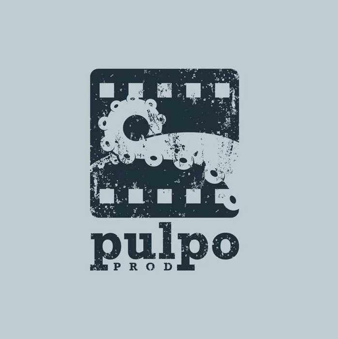 Pulpo Productions logo using an octopus tentacle for a clever play on words