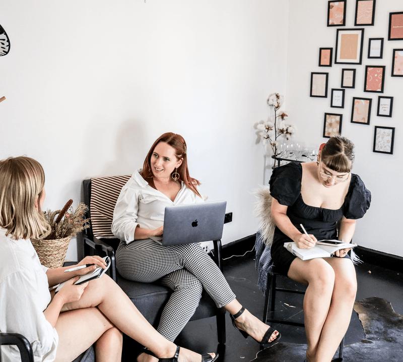 women having a business meeting
