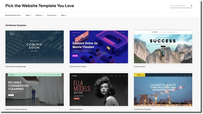 website templates you can use on wix to make your portfolio