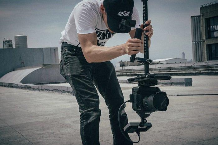 photographer using a steadicam