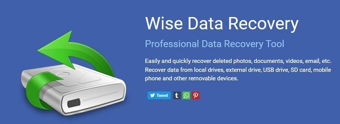 wise data recovery advertisement