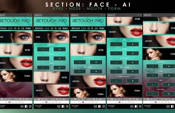 a screenshot of retouch pro ai photo editor interface