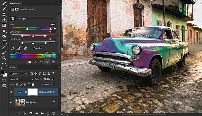 Vintage car replace color