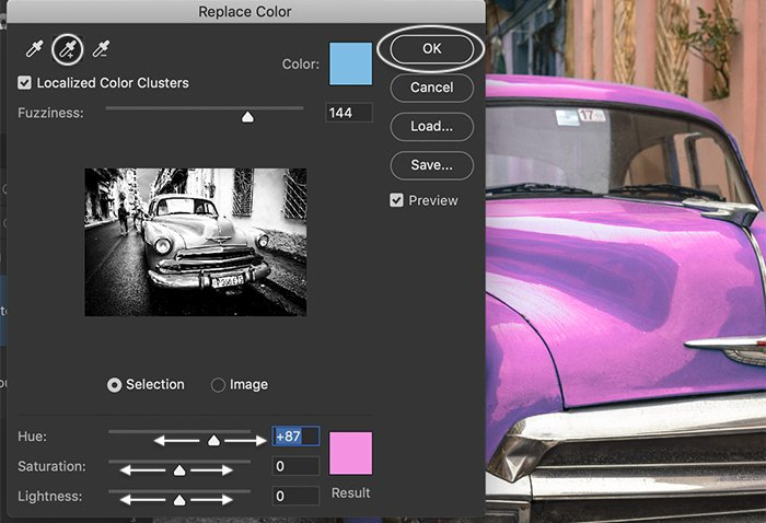 Photoshop screenshot replace color dialog box