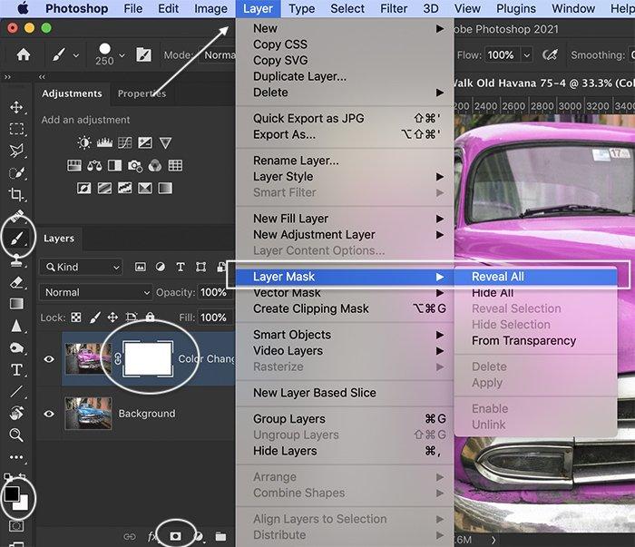 Photoshop screenshot layer mask