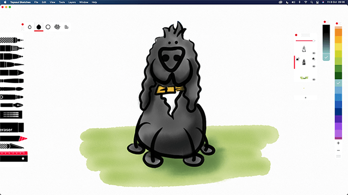 Childich Drawing of Charlie the Spaniel made in Sketches