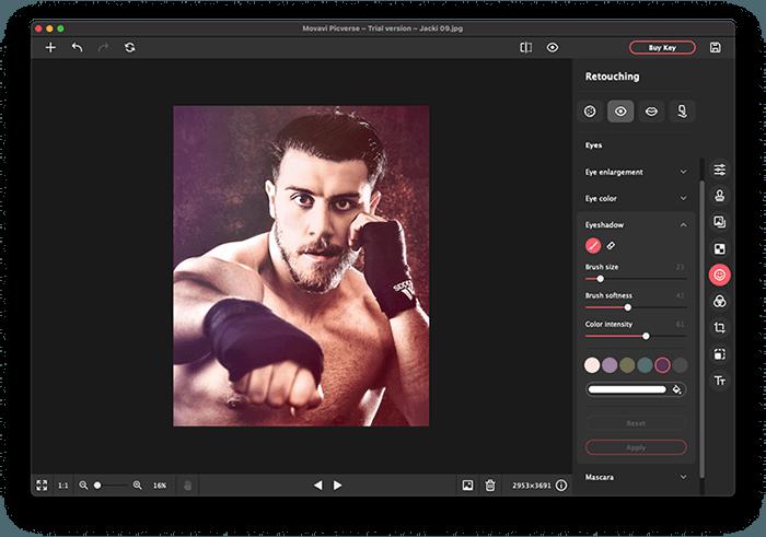 Portrait of Boxer Jack Shepherd Edited in Movavi Picverse