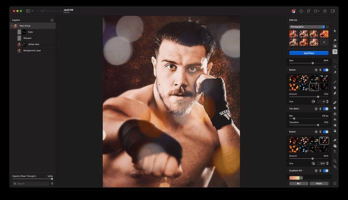 Portrait of Boxer Jack Shepherd Edited in Pixelmator Pro, an alternative to Photoshop