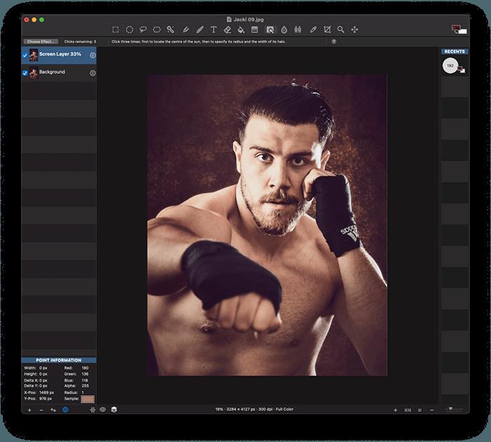Portrait of Boxer Jack Shepherd Edited in Seashore