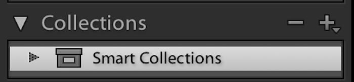 smart collections in Adobe Lightroom