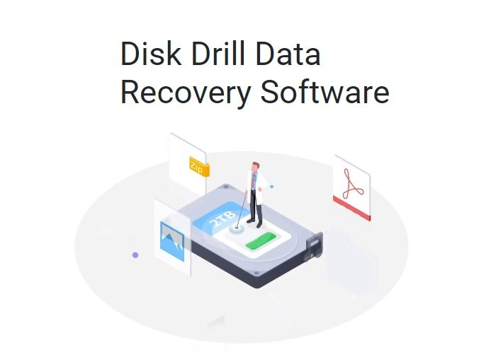 digital graphic of disk drill advertisement
