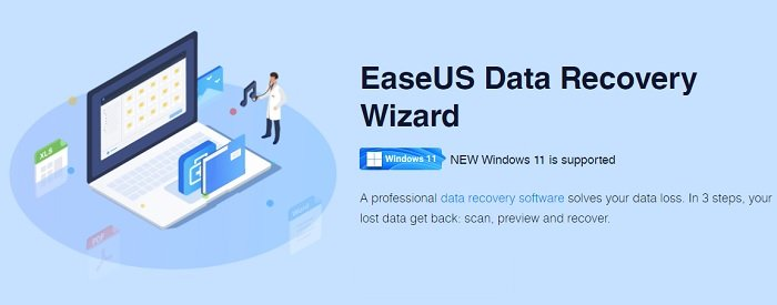 EaseUS data recovery wizard advertisement