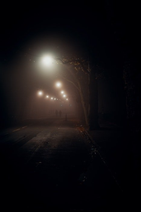 street lights create blur at night